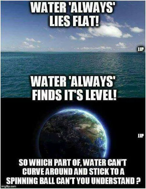 Flat earth water always find its level deception proves for Why do people move to la