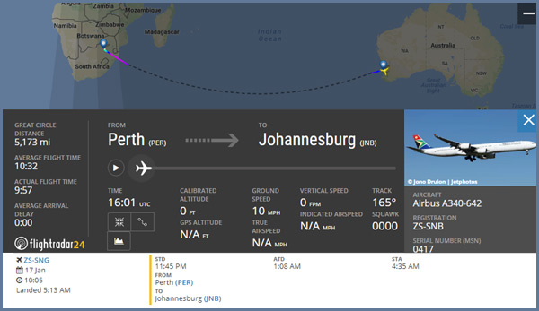Airplane Flights In Southern Hemisphere Prove The Flat