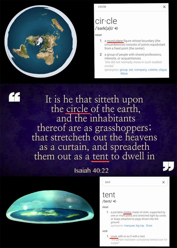 Paul Raines Misleads People About The Circle Of Isaiah 40 22